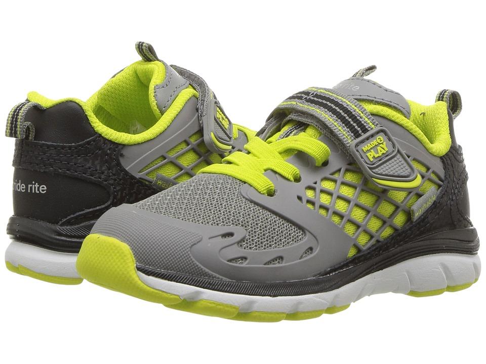 Stride Rite M2P Breccen (Toddler/Little Kid) (Grey/Lime) Boys Shoes
