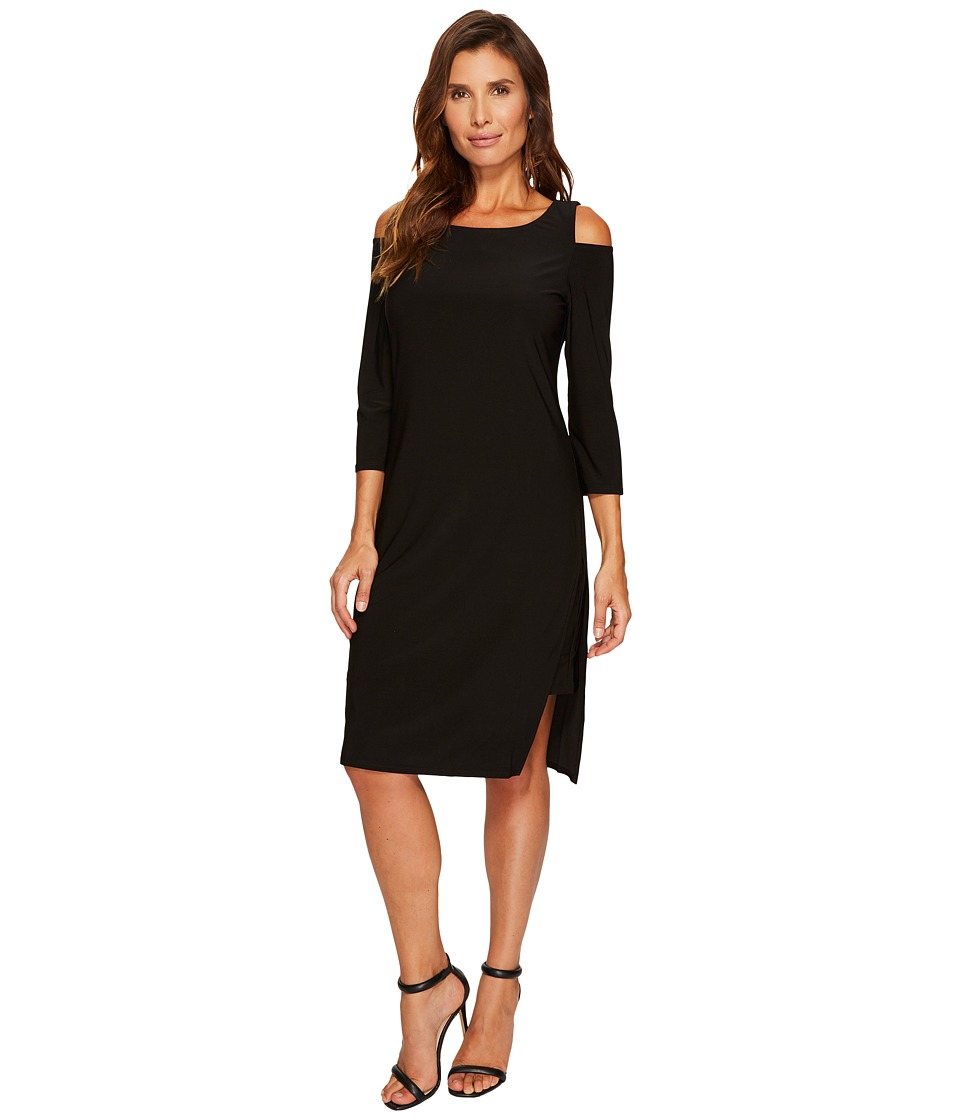Tribal Travel Pack and Go Cold Shoulder Dress (Black) Women