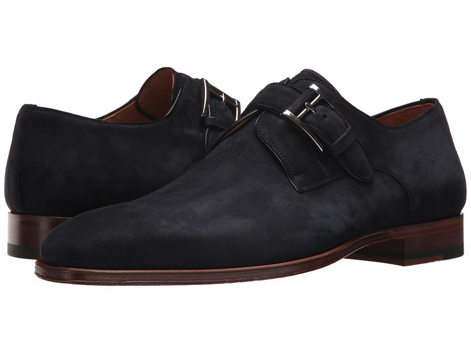 Magnanni - Enrique (Navy Suede) Mens Monkstrap Shoes