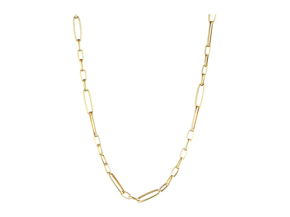 Roberto Coin - 18K Alternating Rectangle Link Chain Necklace