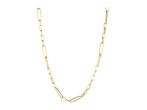 Roberto Coin 18K Alternating Rectangle Link Chain Necklace - Yellow