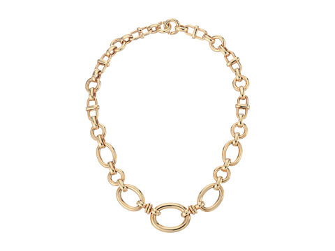 Roberto Coin 18K Graduated Oval Link Necklace - Rose