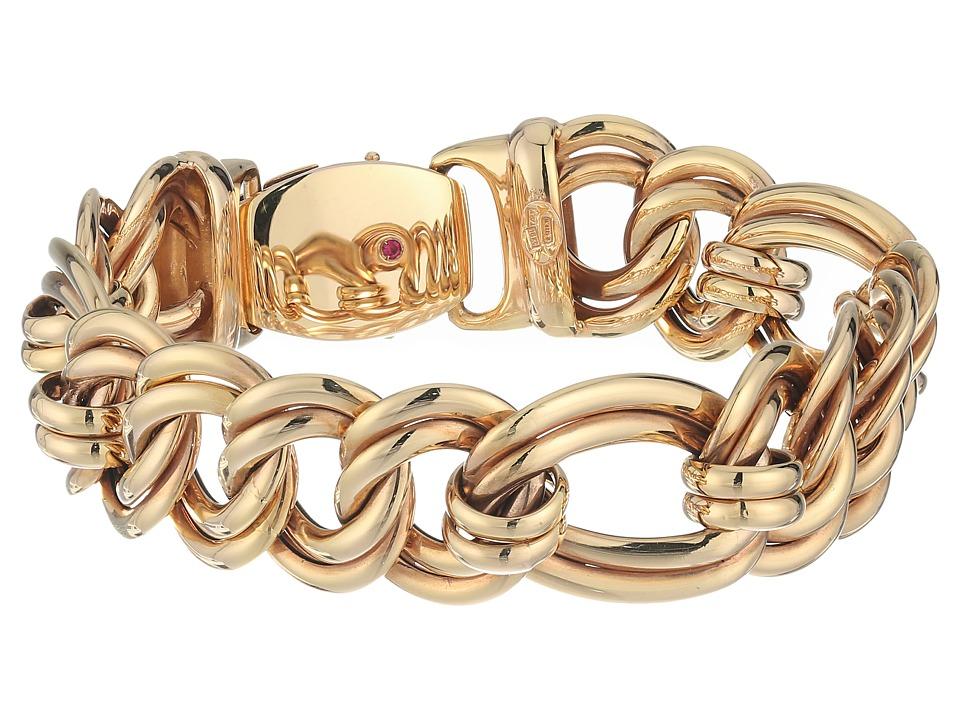 Roberto Coin 18K Flat Curb Link Bracelet (Rose) Bracelet