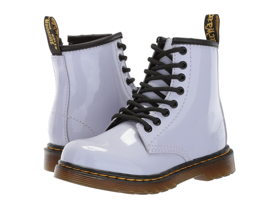 Dr. Martens Kids Collection - 1460 Junior Delaney Boot (Little Kid/Big Kid) (Purple Heather Patent Lamper) Kids Shoes