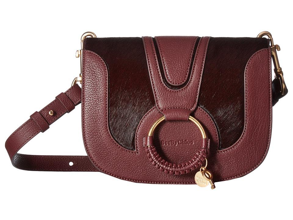 See by Chloe Hana Small Crossbody (Grenat) Cross Body Handbags