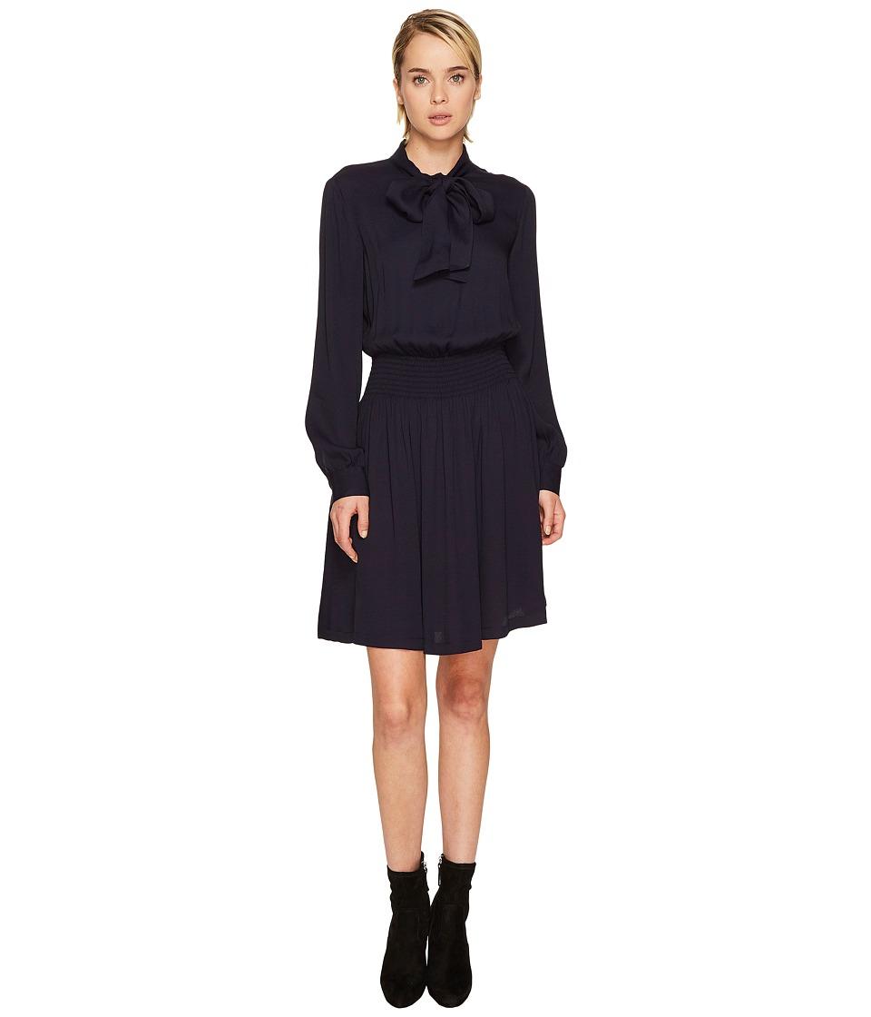 LOVE Moschino Tie Neck Dress (Black) Women