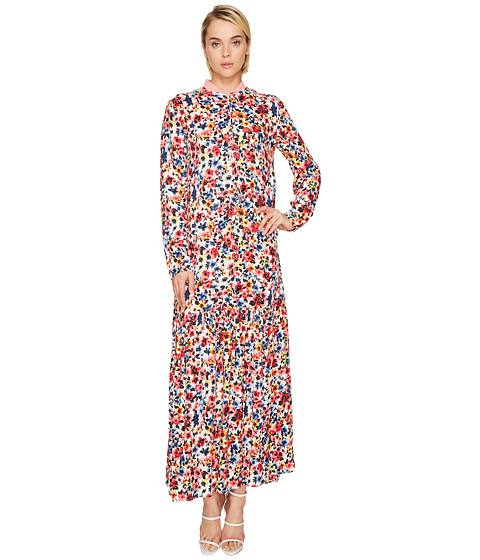LOVE Moschino Ankle Length Floral Zip Neck Dress