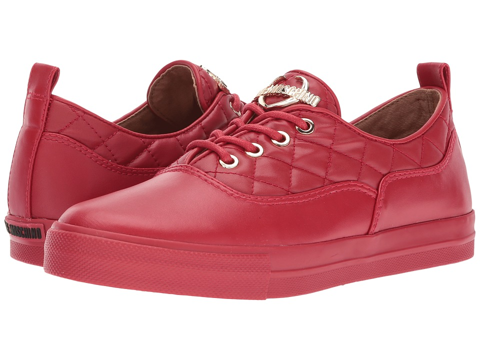 LOVE Moschino Quilted Low Top (Red) Women