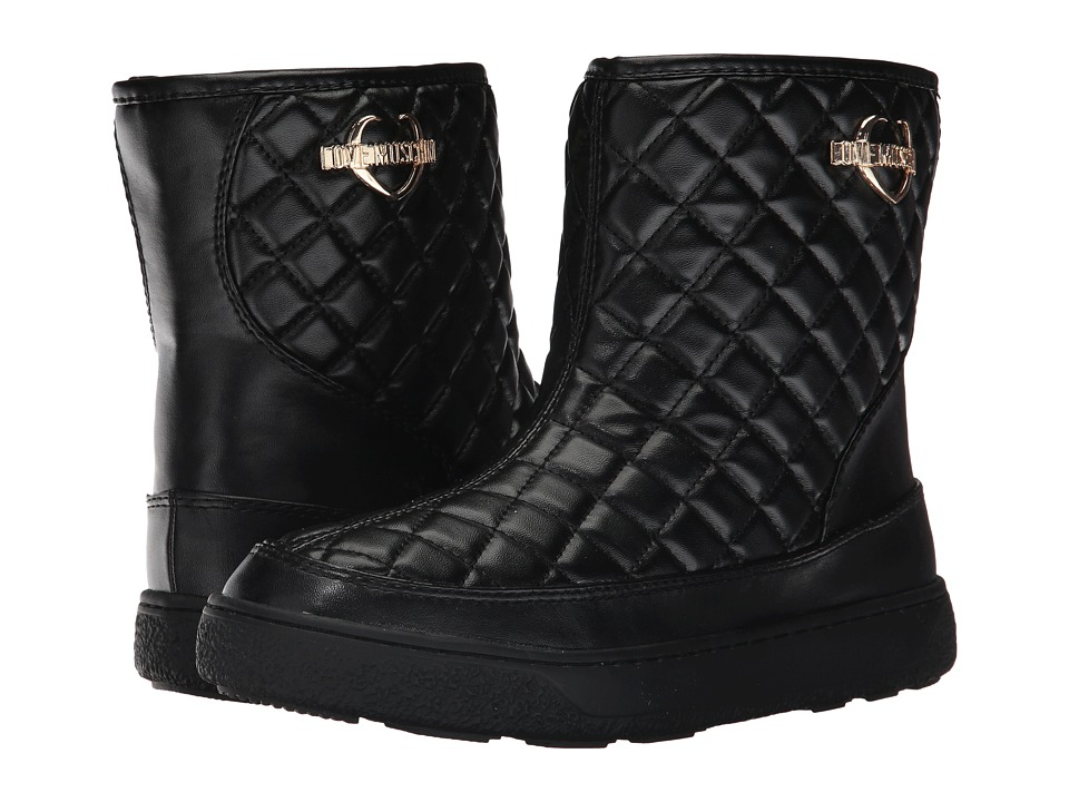 LOVE Moschino Quilted Winter Boot (Black) Women