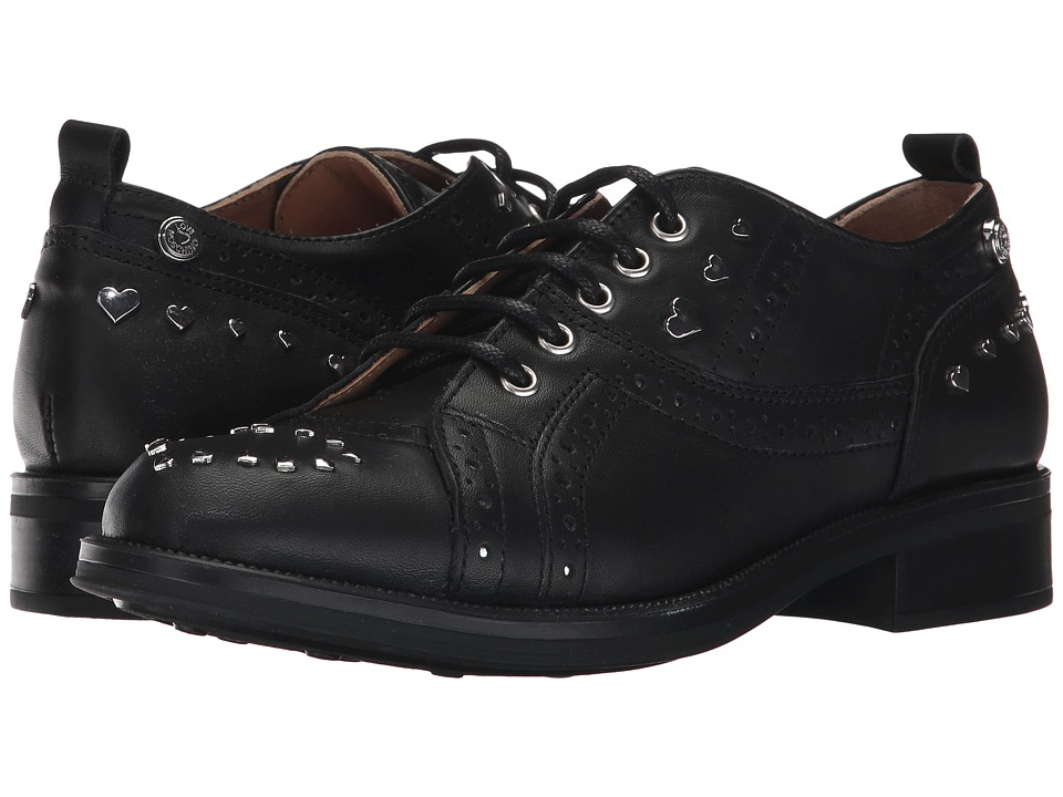 LOVE Moschino - Brogue (Black/Silver) Womens Shoes