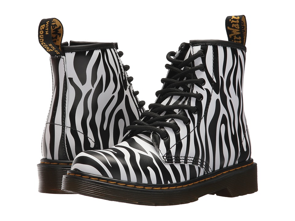Dr Martens Delaney ZBR (Little Kid/Big Kid) (Zebra Print ...