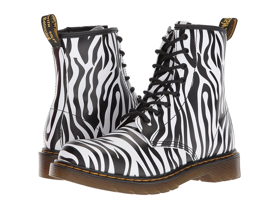 Dr Martens Delaney ZBR (Big Kid) (Zebra Print Backhand) G...
