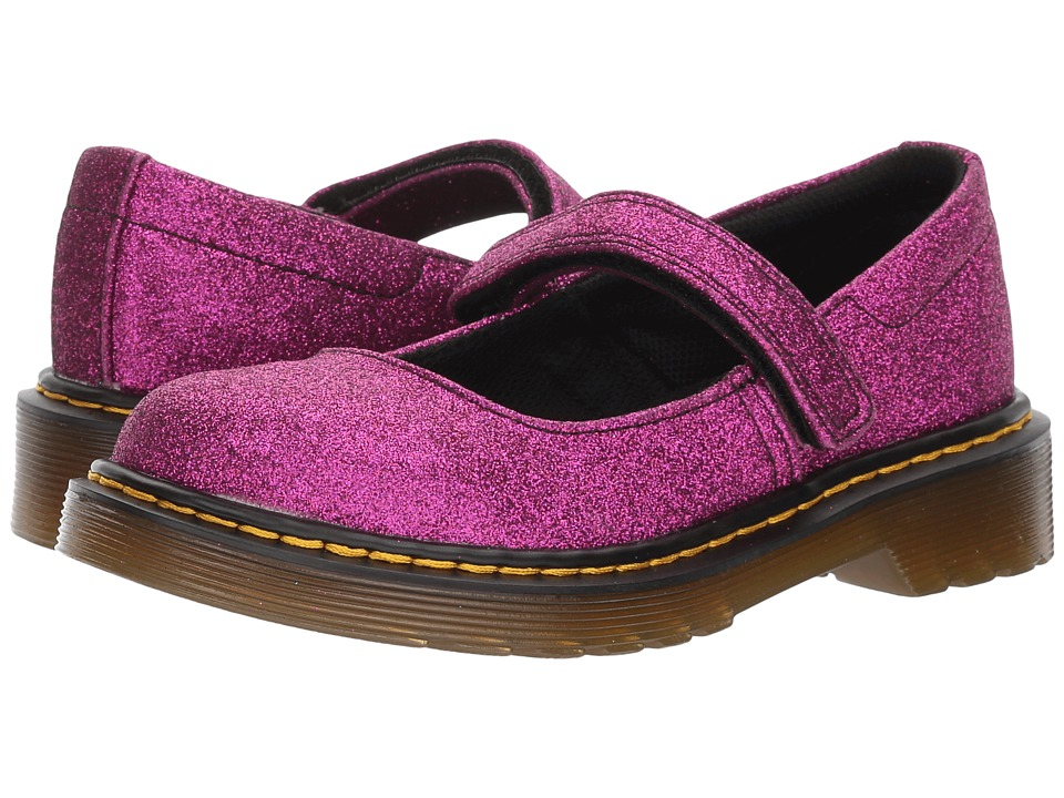 Dr. Martens Kid's Collection Maccy Glitter (Little Kid/Big Kid) (Purple Glitter PU) Girls Shoes
