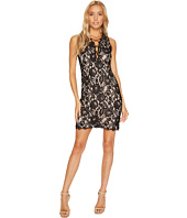 Aidan Mattox - Sleeveless Plunging Lace Cocktail Dress with Strapping