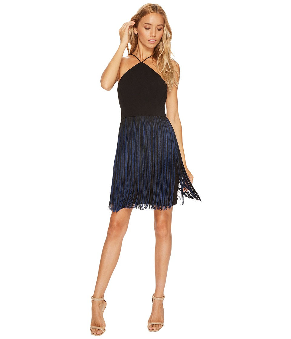 Aidan Mattox - Scuba Crepe Halter Dress with Two