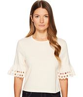 See by Chloe - Jersey and Embroidered Anglaise Tee