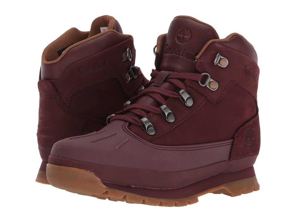 Timberland Kids Euro Hiker Shell Toe (Big Kid) (Dark Red) Kid's Shoes