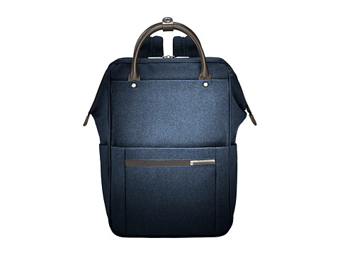 Briggs & Riley Kinzie Street - Framed Wide Mouth Backpack - Navy