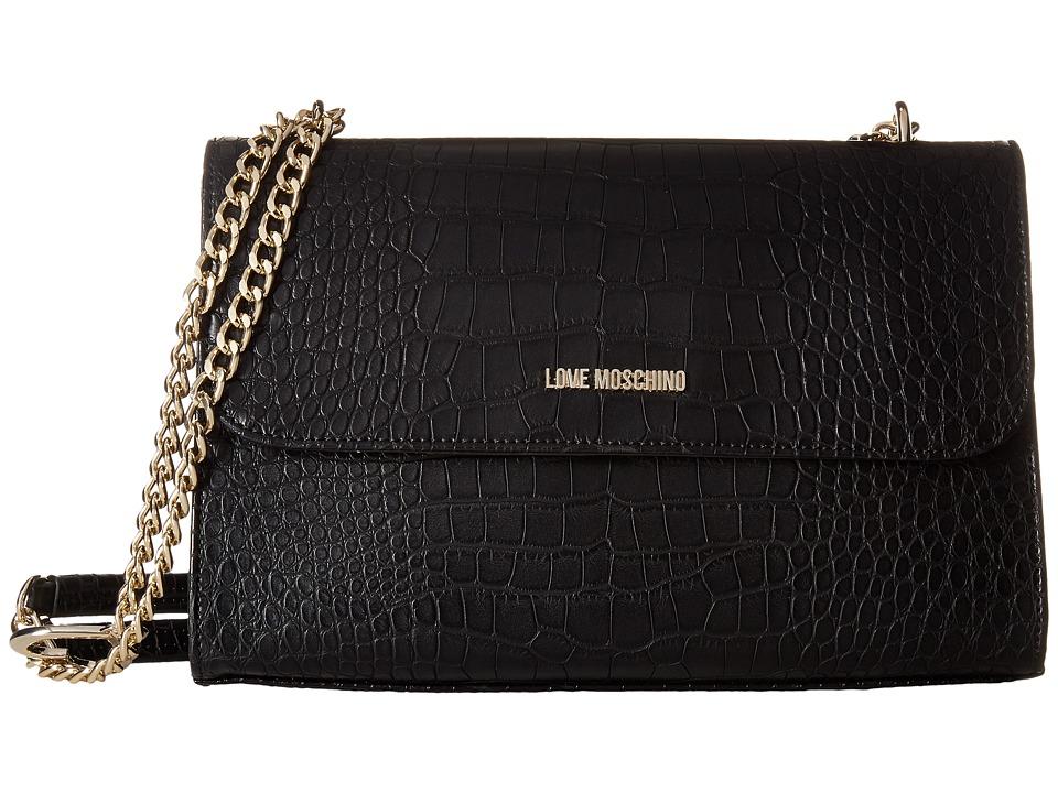 LOVE Moschino - Croco Pu Shoulder Bag