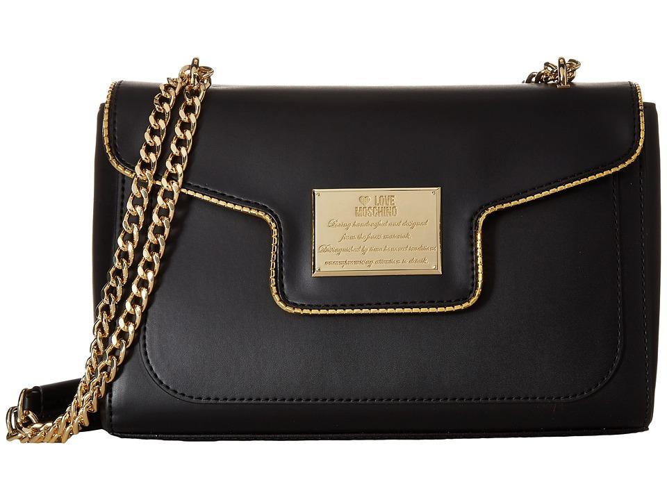 LOVE Moschino - Plaque Flap Shoulder Bag