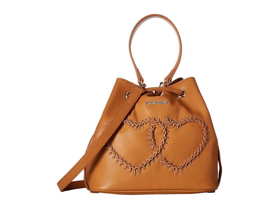 LOVE Moschino - Stitched Heart Bucket Bag
