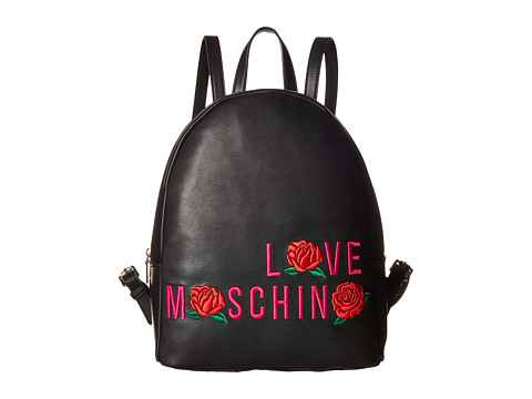 LOVE Moschino Logo Rose Backpack - Black