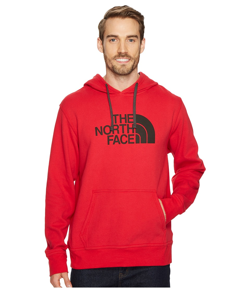 The North Face - Half Dome Hoodie (TNF Red/Asphalt) Mens Long Sleeve Pullover
