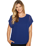 Vince Camuto - Extend Shoulder Blouse w/ Knit Underlay