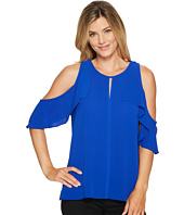 Vince Camuto - Flutter Sleeve Cold Shoulder Blouse