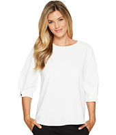 Vince Camuto - Folded Bubble Sleeve Texture Base Blouse