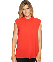 Vince Camuto - Sleeveless Mock Neck Blouse w/ Front Fold