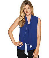 Vince Camuto - Sleeveless Tie Neck Color Blocked Blouse