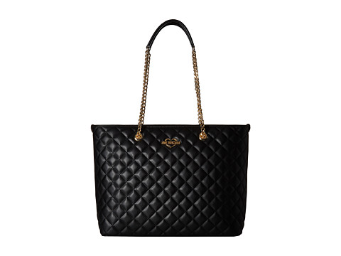 LOVE Moschino Quilted Tote - Black