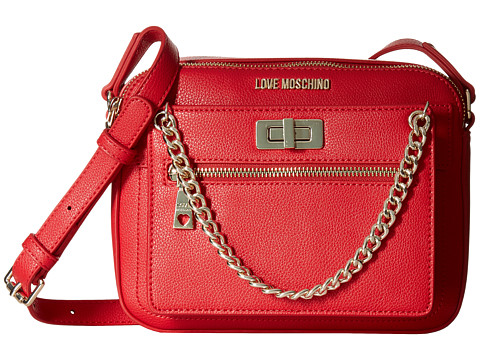 LOVE Moschino Crossbody with Detachable Wristlet - Red