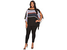 Vince Camuto Specialty Size - Plus Size Linear Graphic Panel Poncho