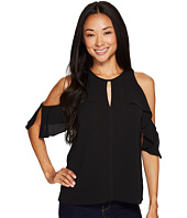 Vince Camuto Specialty Size - Petite Flutter Sleeve Cold-Shoulder Blouse