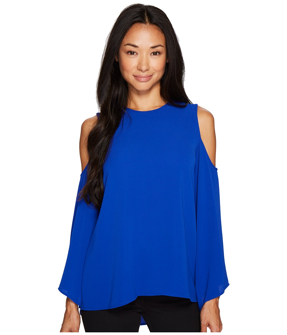 Vince Camuto Specialty Size - Petite Bell Sleeve Cold-Shoulder Blouse