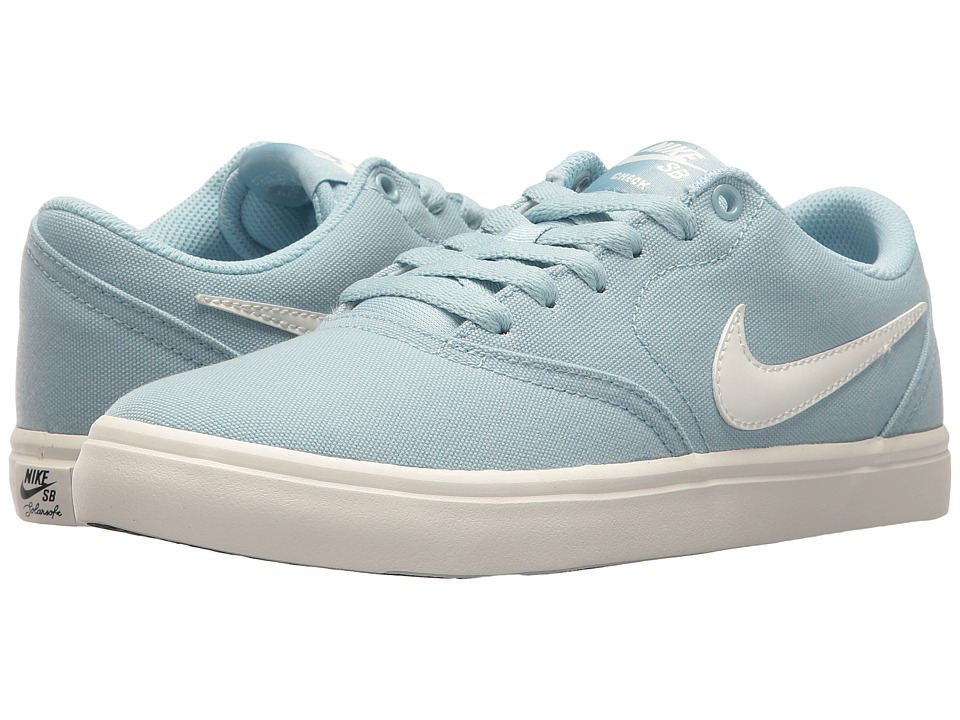 Nike SB - Check SS Canvas (Ocean Bliss/Ivory/White) Women...