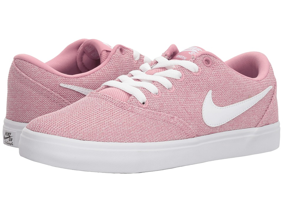Nike SB Check Solarsoft Canvas Premium (Elemental Pink/White/Black) Women's Skate Shoes