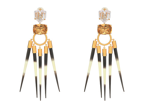 Tory Burch Hanging Statement Earrings - Light Colorado Topaz/Vintage Gold