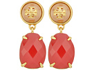 Tory Burch - Epoxy Pearl Stone Earrings