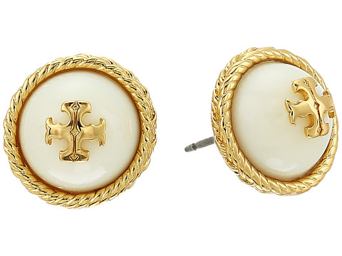 Tory Burch Rope Pearl Stud Earrings