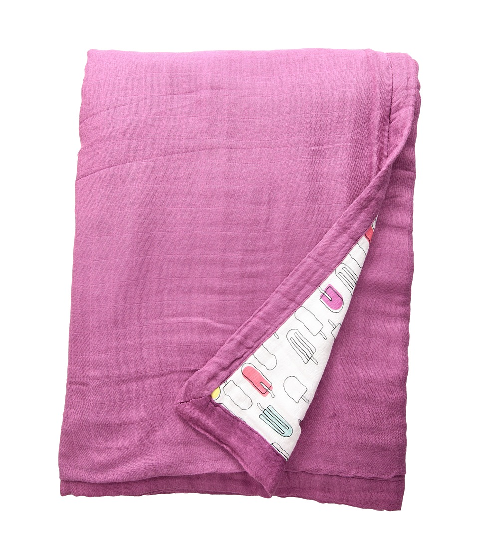 Bebe au Lait - Oh So Soft Luxury Muslin Snuggle Blanket (Popsicles/Cherry) Accessories Travel