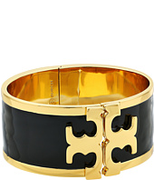 Tory Burch - Enamel Raised Logo Wide Cuff Bracelet