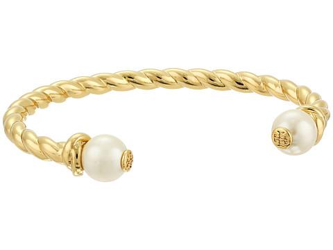 Tory Burch Rope Logo Bead Cuff Bracelet