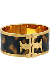 Tory Burch - Raised Logo Print Wide Cuff Bracelet