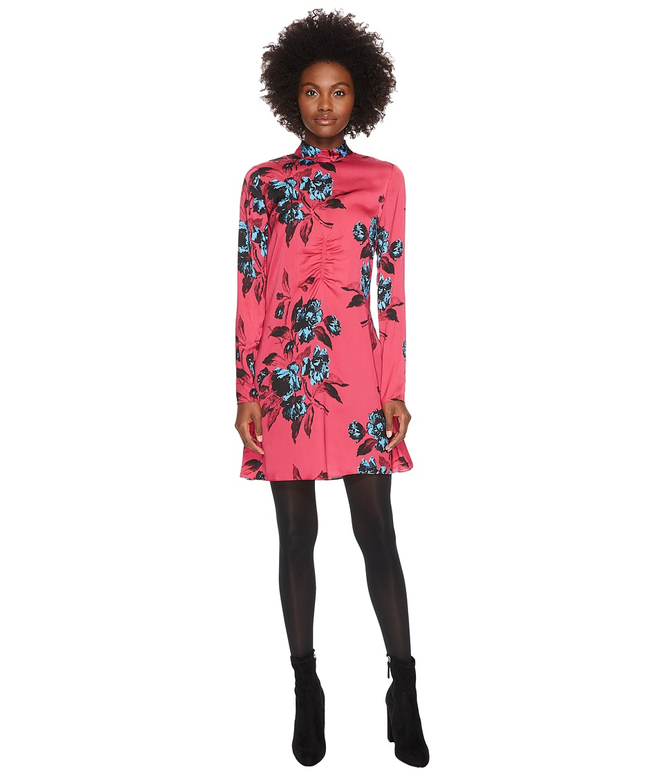 McQ Short Clash Floral Dress (Clash Pink) Women
