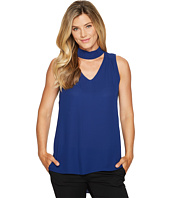 Vince Camuto - Sleeveless V-Neck Mock Choker Neck Blouse