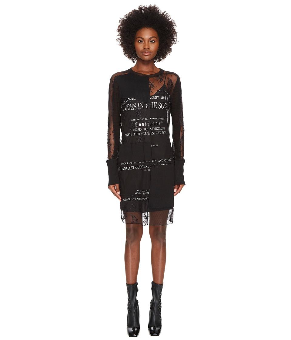 McQ Short Cut Up Souther Gothic Dress (Darkest Black) Women