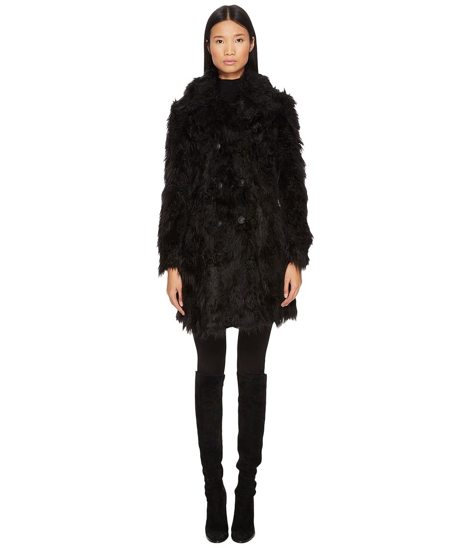McQ - Double Breasted Faux Fur Coat
